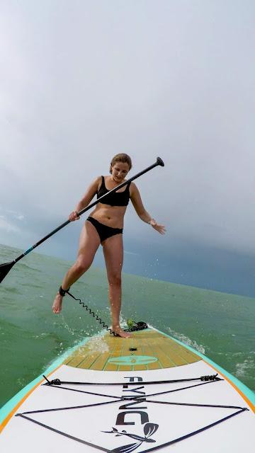 Falling off Paddleboard