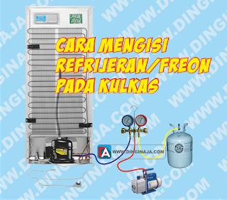 cara mengisi freon pada kulkas