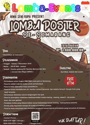 Lomba Poster Se-Semarang Unnes 2019 SMA Sederajat