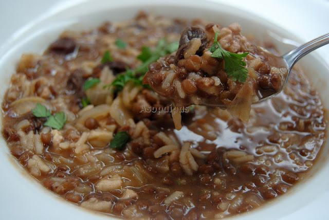 Sopa de Lentejas con Arroz (Vospapur)
