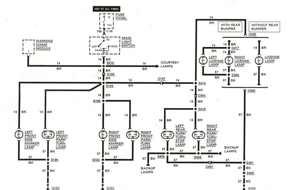 Free Auto Wiring Diagram: 19831989 Ford Ranger Exterior Lights Diagram