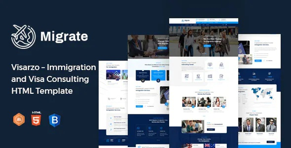 Best Immigration and Visa Consulting Template