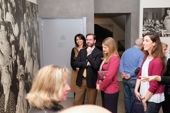 "Hereditary Grand Duke Guillaume and Hereditary Grand Duchess Stéphanie visits photo exhibition of ""The Family of Man"" in Clervaux"
