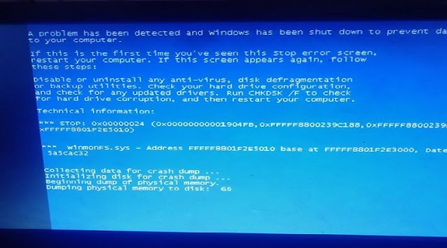 Pc Server Diskless Sering Blue Screen
