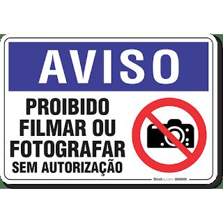 É proibido gravar ou filmar sessões online.