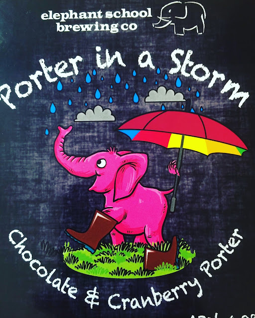 Essex Craft Beer Review: Porter in a Storm from the Elephant School Brewing Co. real ale pump clip