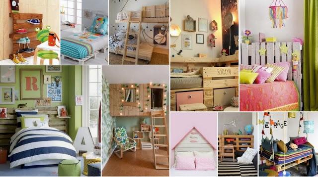 DIY Κατασκευές από Παλέτες για νεανικά - παιδικά δωμάτια