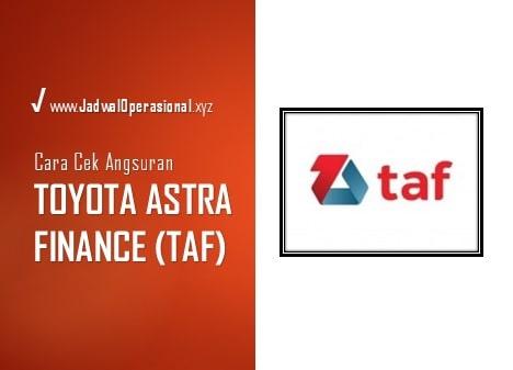 Cek Angsuran Toyota Astra Finance