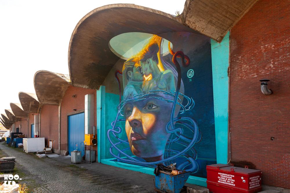 Impressive 3D Street Art Murals in Antwerp by artist WD ( Wild Drawing)