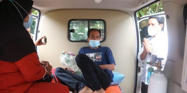 Mengidap Kanker Thorax, Wawali Dedy Kunjungi Harmaizi, Rujukan ke Padang Melalui Program JSPS