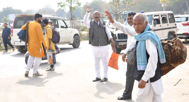 Farmers stopped by Faridabad, leaving Delhi to go back, go back to Madhya Pradesh