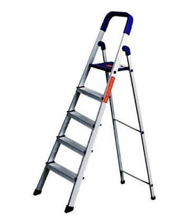 Parasnath Aluminium Blue Heavy Folding Ladder