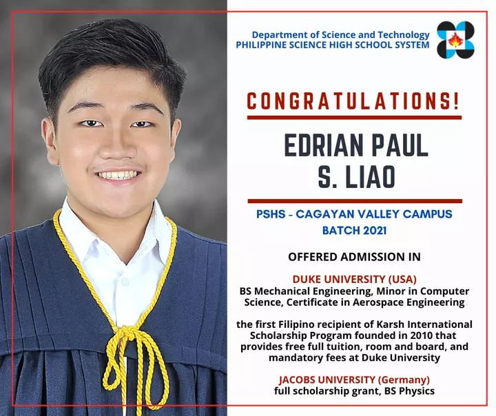 Edrian Liao of the Cagayan Valley Campus