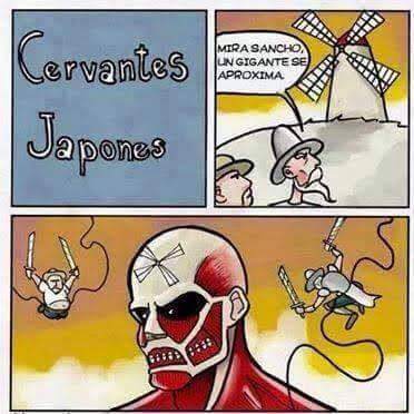 Meme de humor sobre Cervantes