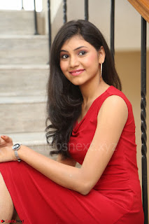 Mounika Telugu Actress in Red Sleeveless Dress Black Boots Spicy Pics 053.JPG