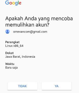 Pemulihan gmail dengan perangkat yang sering digunakan