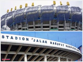 Stadion Gelora Bandung Lautan Api (GBLA) Gedebage dan Stadion Si Jalak Harupat (SJH) Soreang