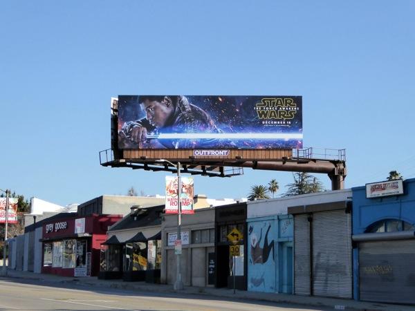 Star Wars Force Awakens Finn billboard