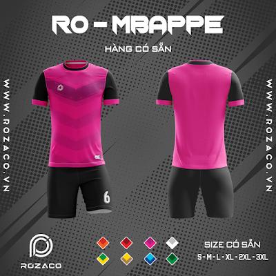 Áo Không Logo Rozaco RO-MBAPPE Màu Hồng