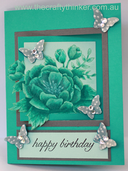 SU, Birthday Blooms, Half Swing Card, Pop Out Swing, fun fold, monochrome watercolour, fun fold