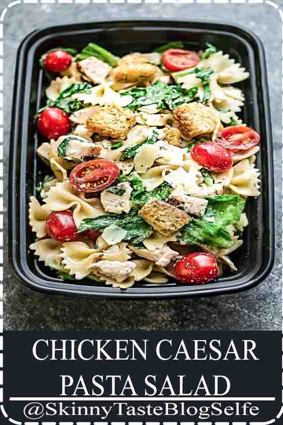 4.6 | ★★★★★ Chicken Caesar Pasta Salad - the perfect side dish to bring to summer potlucks, parties, Memorial Day  Fourth of July grillouts-barbecues. Best of all, it s so easy to make and has all the classic flavors of a caesar salad. Perfect for Sunday meal prep and leftovers are delicious for school or work lunchboxes or lunchbowls #CHICKENCAESAR #PASTA #SALAD
