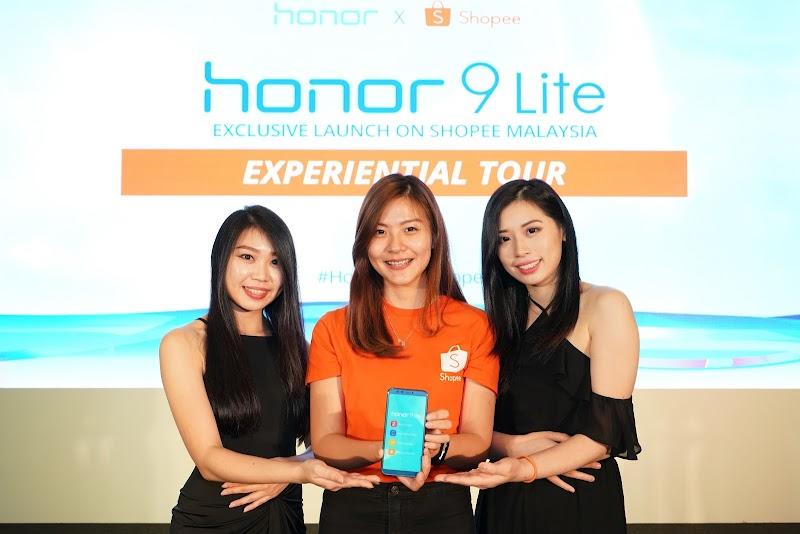 Kerjasama Shopee dan Honor Malaysia Bagi Pelancaran Eksklusif Honor 9 Lite
