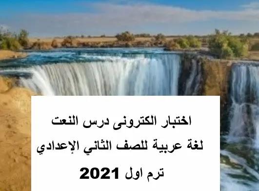 اختبار الكترونى عربى ثانية ثانوى ترم اول2021