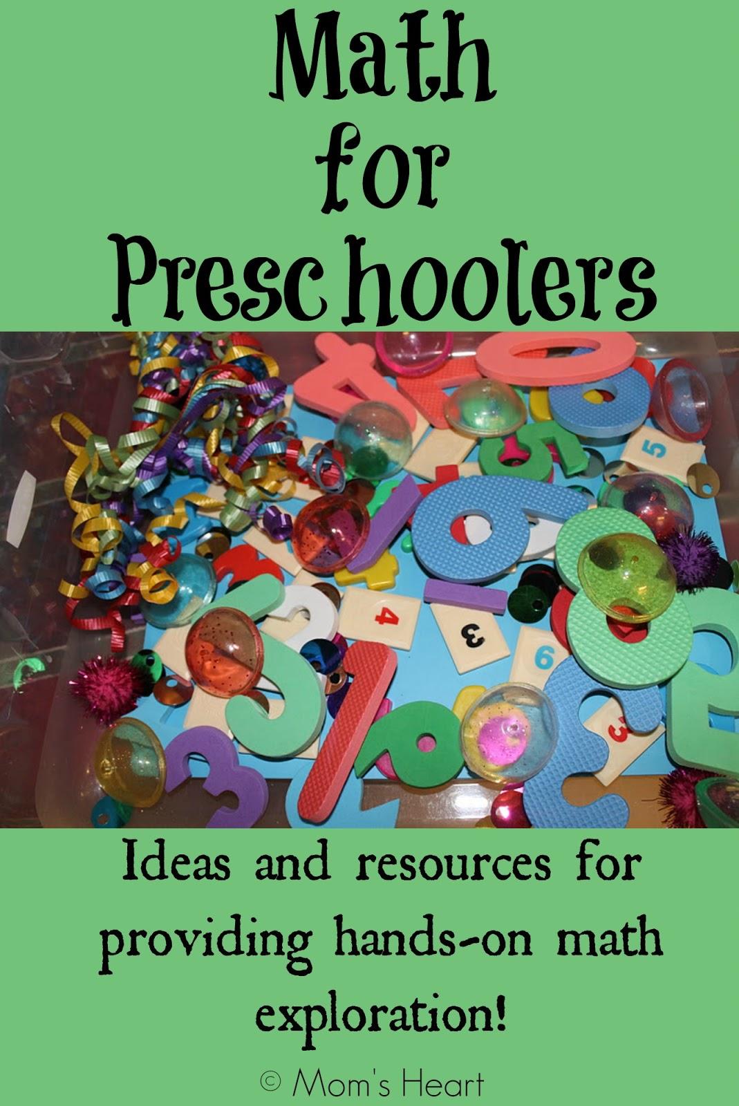 Mom S Heart Living Hands On Math For Preschoolers