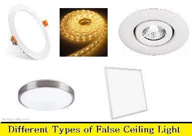 False Ceiling Lights - Different Types of False ceiling Lights