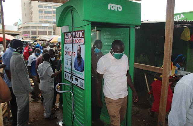 Sanitizing booths in Mombasa photos and video