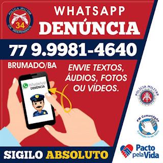 WhatsApp Denúncia da 34ª CIPM