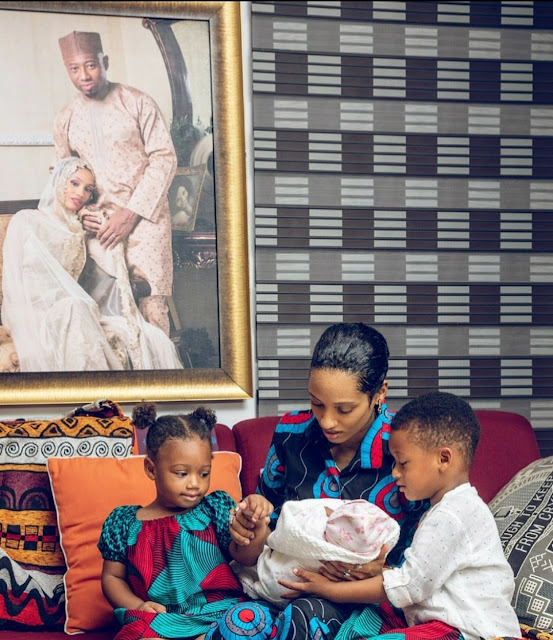 Photo: D'ija announces the arrival of third child