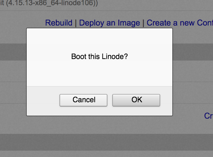 Linode Boot