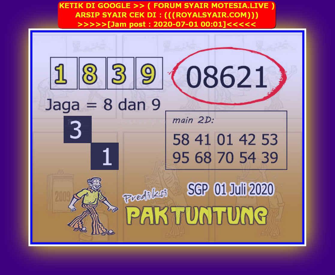 Kode syair Singapore Rabu 1 Juli 2020 227