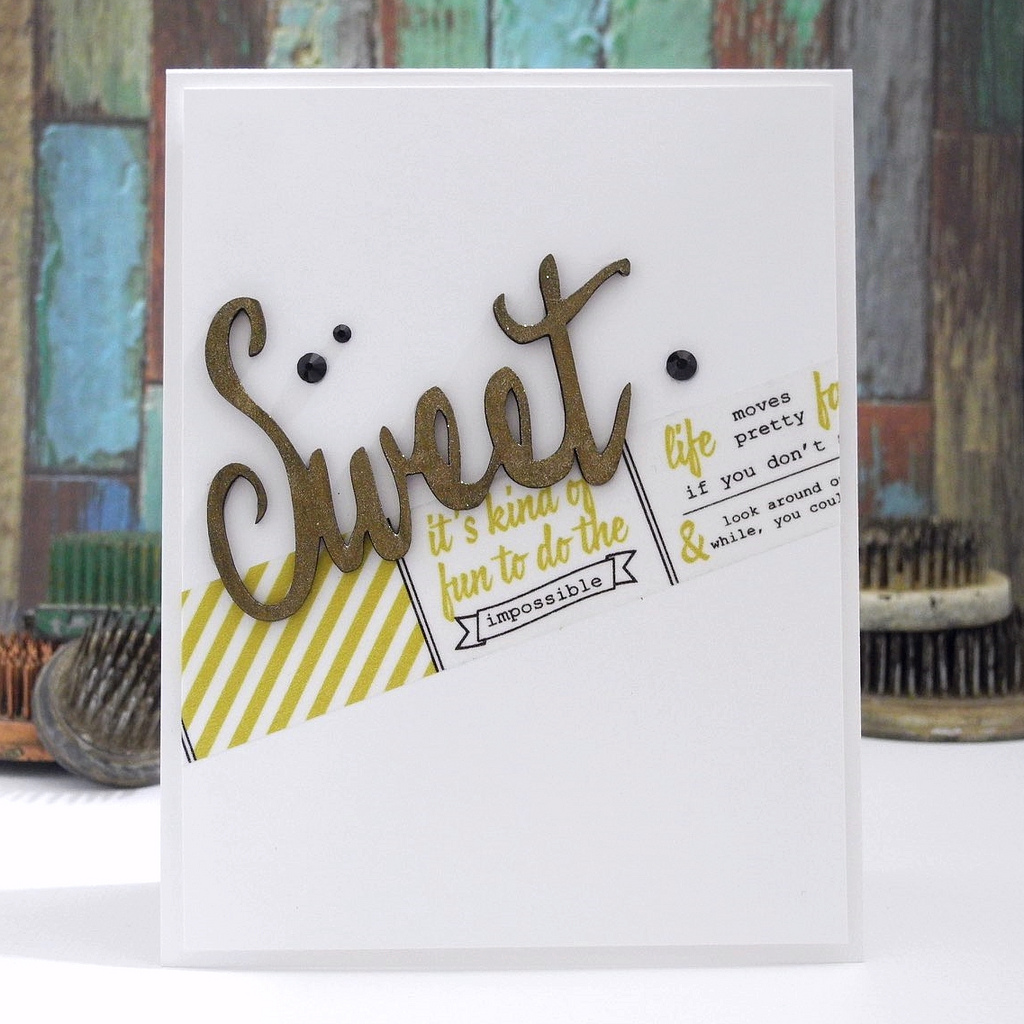 Sweet by Jennifer Ingle #pinkfreshstudio #upintheclouds #embellishmentkit #cards