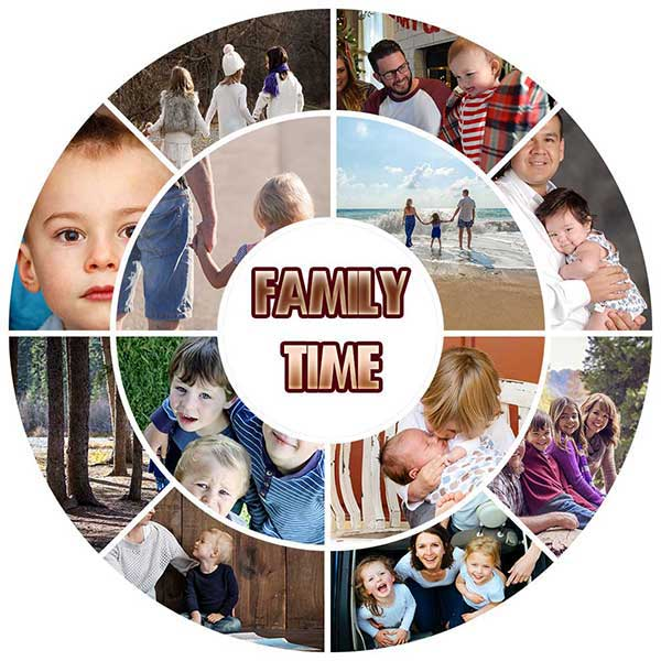 Photo Effect How To Create A Family In Circle Collage In Photoshop