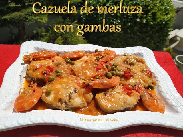 Cazuela De Merluza Con Gambas