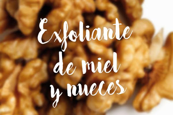 exfoliante miel y nueces