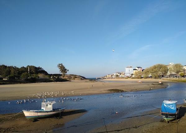 marea baja en San Cibaro. Galicia
