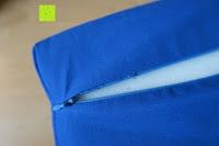 Reißverschluss: High Pulse Akupressur-Set - Akupressurmatte & Akupressurkissen für eine einfache und wirksame Behandlung von Schmerzen und Verspannungen am ganzen Körper. (Blau)