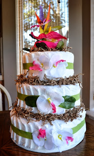 Diaper Cake Tutorial by Over The Apple Tree