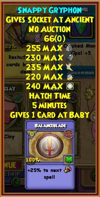 Wizard101 Sinbard Hoard Pack Gryphon Pet