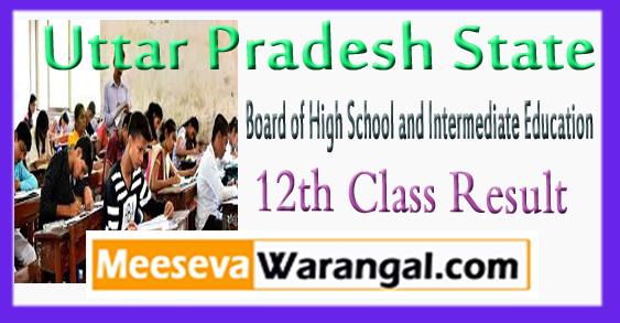 Uttar Pradesh Board of High School And Intermediate Education 12th Class Result 2018