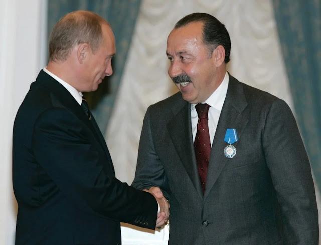 В. Газзаев и Путин