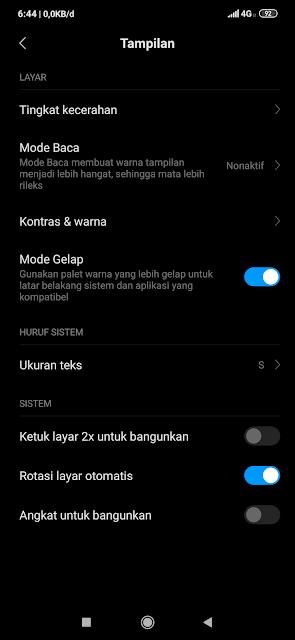 Dark Mode / Mode Gelap HP Xiaomi, Redmi dan Pocophone
