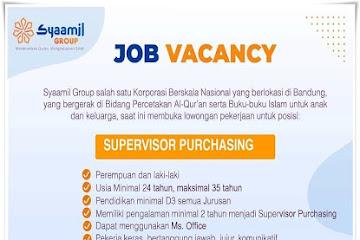 Lowongan Kerja Supervisor Purchasing Syaamil Group