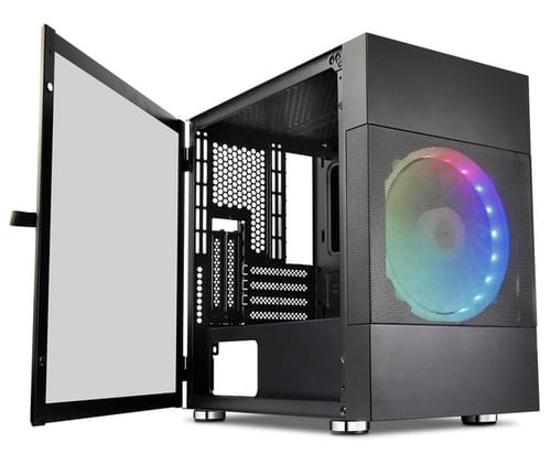 Vetroo M01 Mid-Tower Micro-ATX Mesh Airflow PC Case