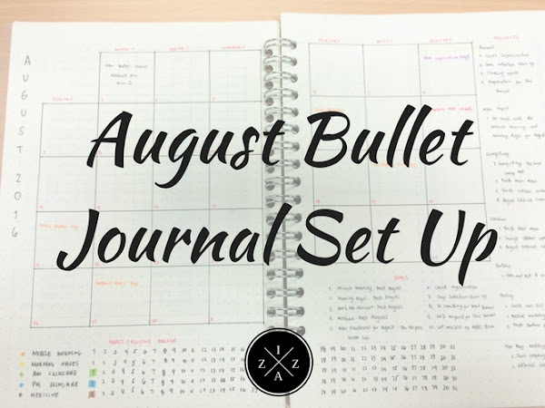 August Bullet Journal Set Up
