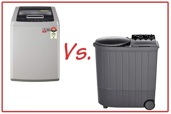 LG T70SKSF1Z (left) and Whirlpool ACE XL (right) Washing Machine Comparison.