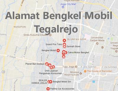 Alamat Variasi Mobil sekitar Tegalrejo, Yogyakarta
